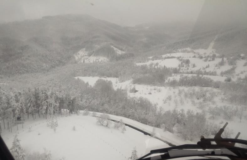 снимка от въздуха на селата без ток