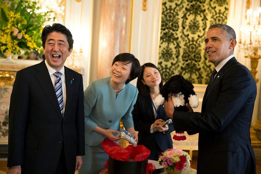 Шинзо Абе и Барак Обама