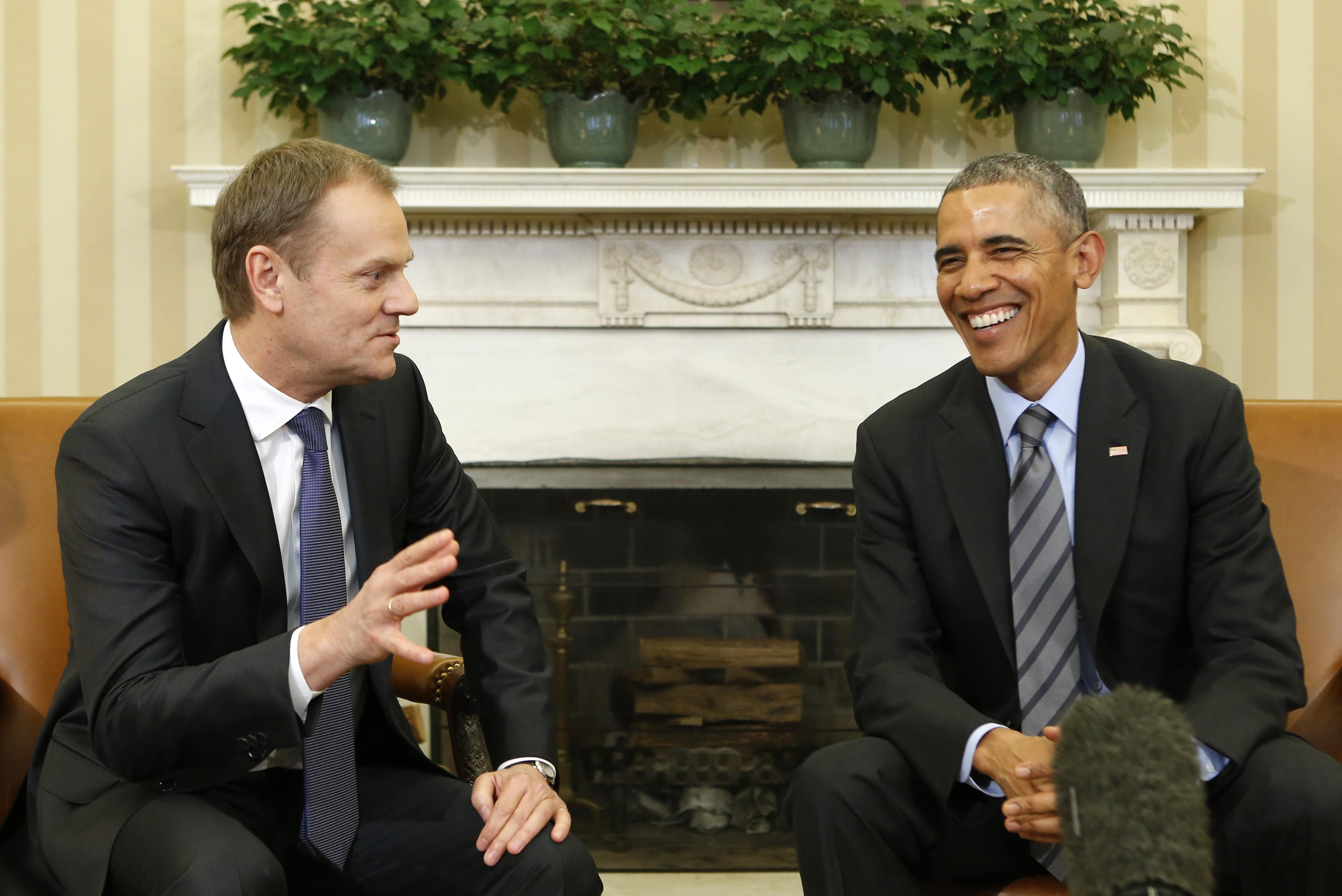 Доналд Туск и Барак Обама