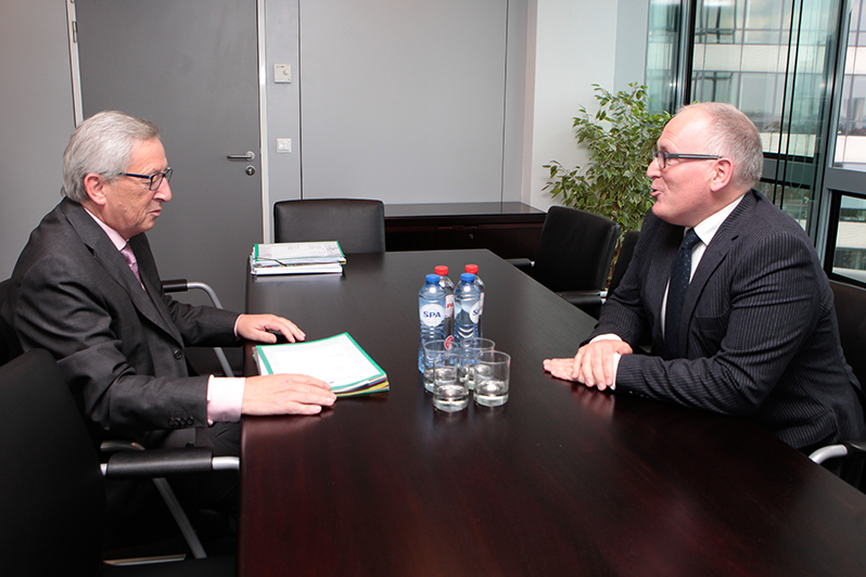 Timmermans Jean-Claude Juncker